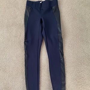 J brand leggings with leather accent